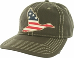 Duck Dynasty Flag Duck Distressed Hat