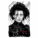 Edward Scissorhands Heads Up Fleece Blanket