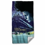 Edward Scissorhands Movie Poster Towel