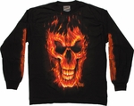 Exile Flame Skull Long Sleeve T-Shirt