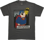 Family Guy DC Superman Wants to be Batman T Shirt