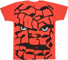 Fantastic Four Thing Huge Head T Shirt Sheer