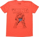 Fantastic Four Thing Man Monster T Shirt Sheer