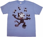 Felix the Cat Juggle T Shirt Sheer