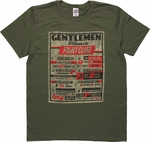 Fight Club Rules Distressed T-Shirt Sheer