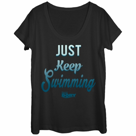 Finding Dory Keep Swimming Scoop Ladies T-Shirt