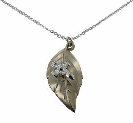 Firefly Serenity Leaf on the Wind Pendant Necklace