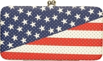 Flag American Diagonal Clutch Wallet