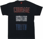 Flag Courage Honor Truth T Shirt