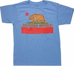 Flag of California T Shirt Sheer