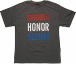 Flag Strength Honor Freedom T Shirt