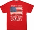Flag USA Back to Back Champs T Shirt