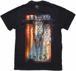Flag USA Liberty Skull T Shirt