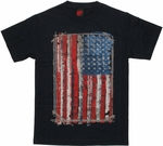 Flag USA Stitch Frame T Shirt