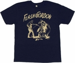 Flash Gordon Fight T Shirt Sheer