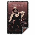 Forbidden Planet Poster Throw Blanket