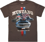 Ford Mustang Legend Lives T Shirt