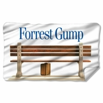 Forrest Gump Bench Fleece Blanket