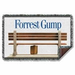 Forrest Gump Bench Throw Blanket
