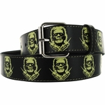 Frankenstein Bolts Vinyl Belt