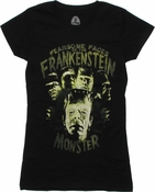 Frankenstein Fearsome Faces Baby Tee