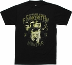 Frankenstein Fearsome Faces T Shirt