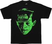 Frankenstein Green Head Distressed T-Shirt
