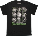 Frankenweenie Grid Nine T Shirt