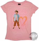 Frankie Jonas Heart Youth Girls T-Shirt