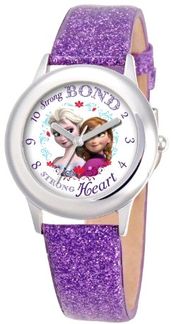 Frozen Anna Elsa Kids Glitter Purple Watch