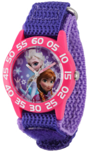 Frozen Anna Elsa Kids Plastic Purple Watch