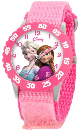 Frozen Anna Elsa Kids Stainless Steel Pink Watch