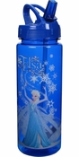 Frozen Elsa Blue Water Bottle