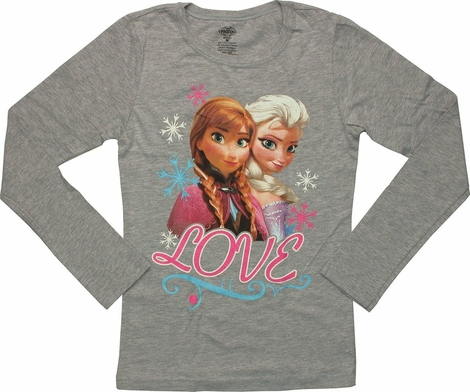 Frozen Love Sisters Long Sleeve Youth T-Shirt