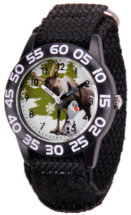 Frozen Olaf and Sven Kids Plastic Black Watch