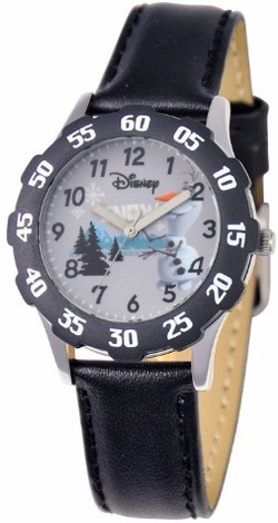Frozen Olaf Kids Stainless Steel Black Watch