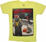 Funny Party Animals Neon Youth T Shirt