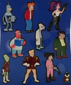 Futurama Die Cut Magnet Set