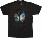 Galaxy Headphones T Shirt Sheer