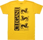 Game of Thrones Clegane Sigil T Shirt Sheer