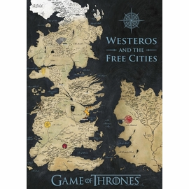 Game of Thrones Color Map Giclee