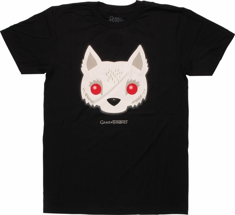 Game of Thrones Direwolf Ghost Face T-Shirt Sheer