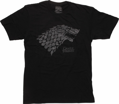 Game of Thrones Distressed Stark Logo T-Shirt
