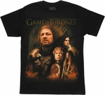 Game of Thrones Group Poster T Shirt Sheer