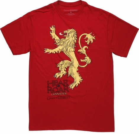 Game of Thrones Hear Me Roar Bold T Shirt
