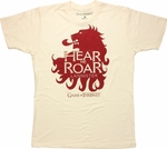 Game of Thrones Hear Me Roar Cream T Shirt Sheer