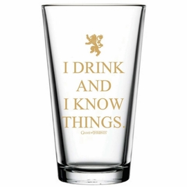 Game of Thrones I Drink and Know Things Pint Glass
