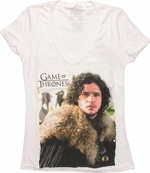 Game of Thrones Jon Snow V Neck Juniors T-Shirt