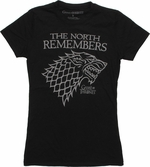 Game of Thrones North Remembers Outline Baby Tee