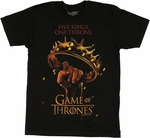 Game of Thrones One Throne T Shirt Sheer